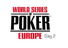 -- world series of poker europe - day 2 --