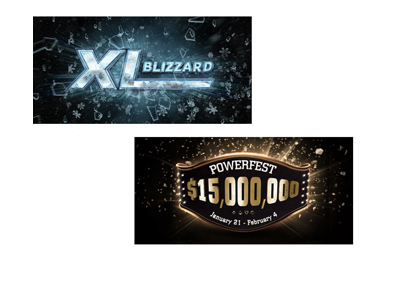 Poker tournaments - 888 XL Blizzard and Party Poker Powerfest - Year 2018.
