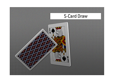 The King explains the meaning of the term 5-Card Draw.  What type of a poker game is it?  What are the rules?  How are the cards ranked?