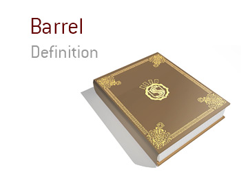 The definition and meaning of the term barrel in the game of poker.  King dictionary.