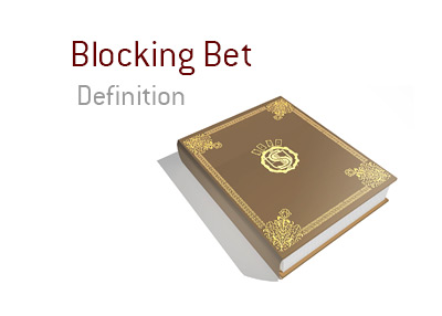 The definition and meaning of the poker term Blocking Bet.  The King explains the term and provides an example