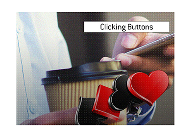 Clicking Buttons Definition Poker