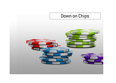 When the chips are down is a term commonly used in the game of poker as well as in life in general.  What is the meaning of this phrase?  The King explains.