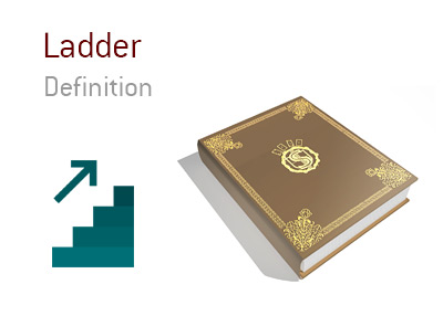 The definition of the poker term Ladder.  What is the meaning of it? - Illustration provided.