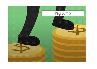 The meaning of the tournament poker term Pay Jump is explained and illustrated.