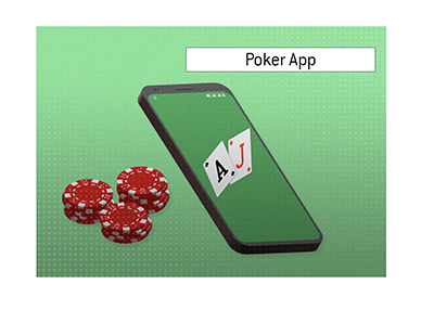 The definition of the term Poker App is explained and illustrated by the King.