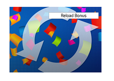 The illustration of a reload bonus accompanies the article explaining the meaning of the term.
