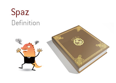The definition, meaning and illustration for the poker term - Spaz.