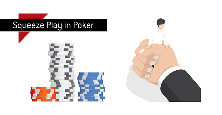 Poker term Squeeze Play defined and illustrated.