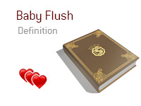 Definition of Baby Flush - Poker Dictionary - Heart Illustration