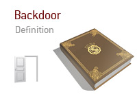Definition of the term Backdoor in poker