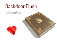 Definition of Backdoor Flush - Poker Dictionary - Heart - Illustration