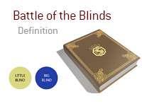 Definition of Battle of the Blinds - Poker Dictionary
