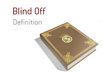 The definition and meaning of the term Blind Off - King Poker Dictionary