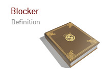 Definition and meaning of the term Blocker in the game of poker