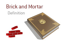 Definition of Brick and Mortar - Poker Dictionary - Brick Wall - Illustration