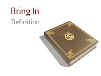 Definition of Bring In - Poker Dictionary