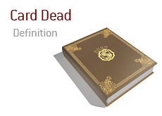 Poker Definition - Card Dead