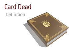 Poker Definition - Card Dead
