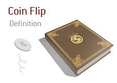 Coin Flip - Poker Dictionary - Term Definition