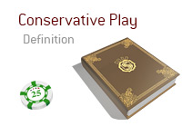 Definition of Conservative Play - Poker Dictionary - Green $25 Chip - Illustration