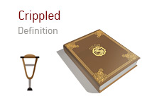 Definition of term Crippled - Poker Dictionary - Crutches Illustration