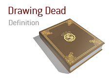 What does drawing dead mean in poker?