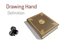 Definition of Drawing Hand - Poker Dictionary - Illustration of Card Symbol - Club