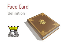 Definition of Face Card - Poker Dictionary - Illustration of King Card - Face Only