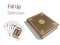 Definition of Fill Up - Poker Dictionary - Full House - Illustration