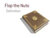 Definition of the term Flop the Nuts - Poker Dictionary