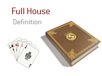 Definition of Full House - Poker Dictionary - Illustration of Three Aces and Two Jacks