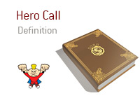 Definition of the term Hero Call - Poker Dictionary - Super-Hero Illustration