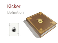 Definition of term Kicker - Poker Dictionary - Ace of Spades - Illustration