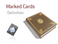 Definition of Marked Cards - Poker Dictionary - Illustration