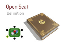 Definition of Open Seat - Poker Dictionary - Illustration of Poker Table with an empty seat