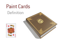 Definition of Paint Cards - Poker Dictionary - King of Hearts - Illustration