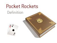 Definition of Pocket Rockets - Poker Dictionary - Two Aces - Diamond and Spade - Illustration