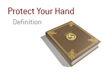 Definition of Protect Your Hand in Poker - King Dictionary