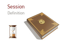 Definition of term Session - Poker Dictionary - Hour Glass Illustration