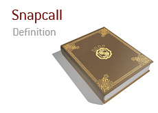 Definition of Snapcall in the game of poker
