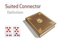 Definition of Suited Connector - Poker Dictionary - Illustration of 7 of hearts and 9 of hearts