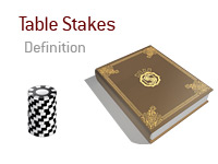 Definition of the term Table Stakes in poker