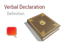 Definition of Verbal Declaration - Poker Dictionary - Illustration