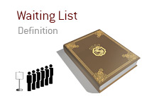 Definition of Waiting List - Poker Dictionary - Illustration of people waiting in line