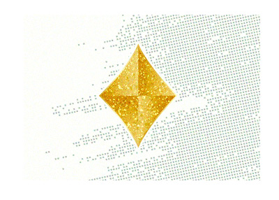The golden diamond card symbol.  Illustration.