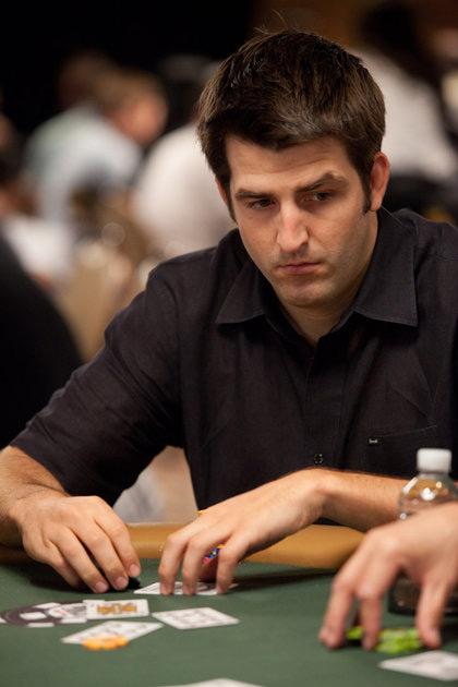 Sbrugby aka Brian Townsend in a black shirt - WSOP 2010