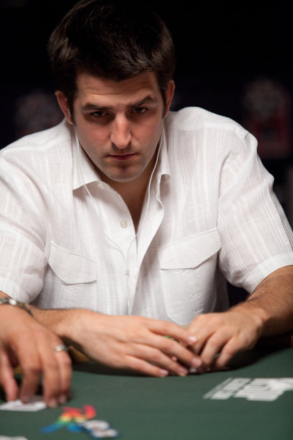 Brian Townsend in a white shirt at the World Series of Poker 2010 - sbrugby
