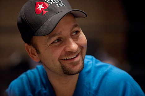 Daniel Negreanu cracking his trademark smile