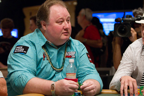 Greg Raymer at the WSOP 2010 - Wearing the bracelet